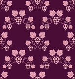 Grapevines seamless pink background. Stock Photos