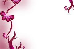 grapewine cor-de-rosa com folha da borboleta, fundo do abstrack Foto de Stock Royalty Free