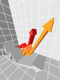 Graph. Three ascending arrows in a diagram Royalty Free Stock Photo