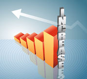 Graph. Vector illustration of increase graph Royalty Free Stock Images