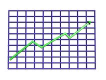 Graph. 3D Graph Royalty Free Stock Images