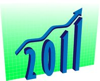 Graph for 2011 Royalty Free Stock Photo