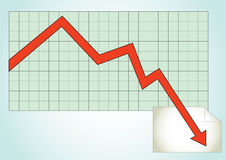 Graph. Paper with profit chart Stock Image