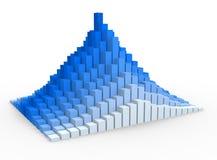 Graph. Financial. Layered  pyramid chart . 3d render Royalty Free Stock Photos