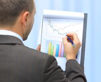 Graph. Stock market graphs monitoring Stock Images