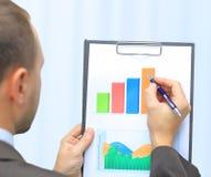 Graph. Stock market graphs monitoring Stock Photo