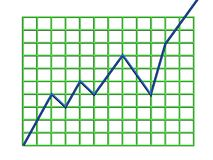 Graph. Off the chart Royalty Free Illustration