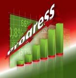Graph 3d ilustration. 3D shiny finance graph illustration render Royalty Free Stock Photo