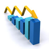 Graph 3d Rendered Royalty Free Stock Photo