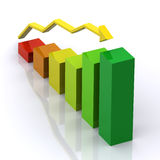 Graph 3d Rendered Stock Photo