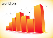 Graph. Illustration of business graph... world biz Stock Photo