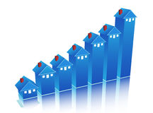 Graph. Illustration of graph with house Stock Photos