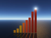 Graph. Success chart. 3d rendered image Stock Photos