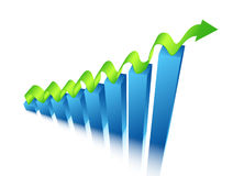 Graph. Illustration of business graphs....graphs Stock Photo