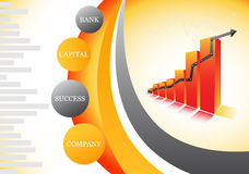 Graph. Vector illustration of orange graph Stock Photography