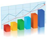 Graph. Finance stat - multicolor bar diagram, vector illustration Royalty Free Stock Image