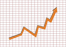 Graph. Profit and gain arrow  stock company goal Stock Photo