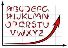 Graph alphabet Stock Image