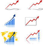 Graph Analysis. For business  and success Stock Photography