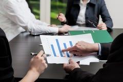 Graph analysis Stock Photos