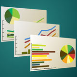 Graph analytics. Vector illustration of a graph analytics Royalty Free Stock Photo
