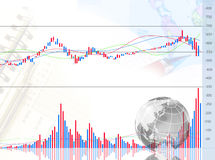 Graph And Globe Stock Photography