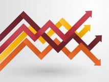 Graph of arranged arrows Stock Photos