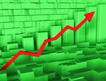 Graph with arrow. Background business the diagram with an arrow Royalty Free Stock Image