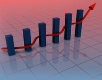 Graph arrow snakes Royalty Free Stock Photography