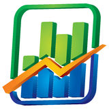 Graph with arrows Royalty Free Stock Photos