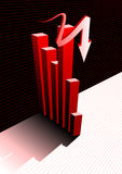 Graph background. Business Graph with arrow showing profits and gains Stock Photos