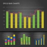 Graph bar chart Stock Photo