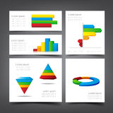 Graph bar pi statistic element foe design vector illustration Royalty Free Stock Image