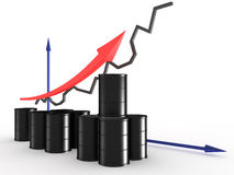Graph with black barrels #2 Royalty Free Stock Photos