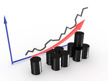 Graph with black barrels #3 Royalty Free Stock Images