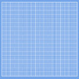 Graph blue paper with white cells Stock Photography