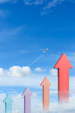 Graph in blue sky Stock Image