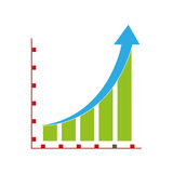 Graph on board icon. Simple flat design graph on board icon  illustration Royalty Free Stock Photos