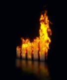 Graph burning Stock Photography