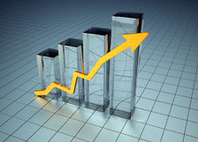 Graph business Royalty Free Stock Photo