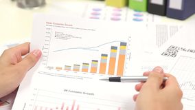 Graph Of Business Budget Royalty Free Stock Photography