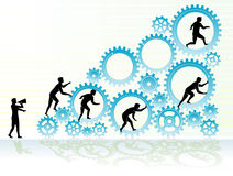 Graph Business Cogs Royalty Free Stock Photos