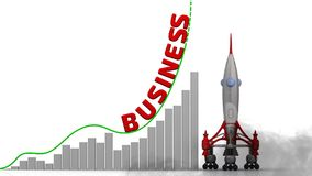 The graph of business growth