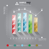 Graph for Business presentation Stock Image