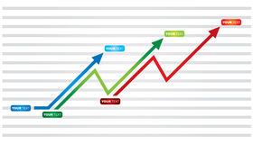 Graph of business success Royalty Free Stock Image