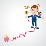 Graph businessman  Royalty Free Stock Photo