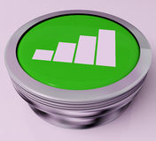 Graph Button Means Data Analysis Or Statistics Royalty Free Stock Image
