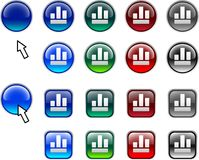 Graph buttons. Royalty Free Stock Images