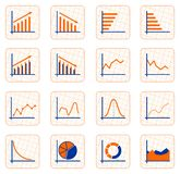 Graph buttons - cdr format Stock Images