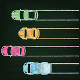 Graph  by 4 car Royalty Free Stock Photo